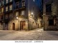 stock-photo-empty-street-of-barri-gotic-at-night-barcelona-119690572