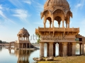 stock-photo-gadi-sagar-gadisar-lake-is-one-of-the-most-important-tourist-attractions-in-jaisalmer-rajasthan-152817755