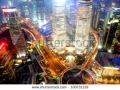 stock-photo-shanghai-financial-center-in-the-evening-100731319