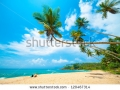 stock-photo-tropical-beach-in-sri-lanka-young-woman-sitting-on-the-sand-120467314