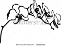 stock-vector-orchid-flower-branch-vector-isolated-135809228