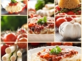 stock-photo-collage-of-pasta-dish-spaghetti-with-tomato-sauce-cherry-tomatoes-spring-onions-and-other-72497767
