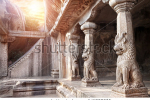 stock-photo-ancient-cave-with-animal-column-in-mamallapuram-tamil-nadu-india-141898975