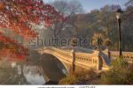 stock-photo-early-morning-in-the-fog-in-central-park-new-york-city-by-the-bow-bridge-41577403