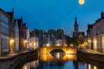 stock-photo-european-medieval-night-city-view-background-bruges-brugge-canal-in-the-evening-belgium-126943613