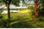 stock-photo-fairytale-style-image-of-forest-scene-with-lake-and-trees-during-vibrant-sunset-79213534