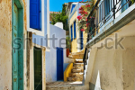 stock-photo-pretty-colored-streets-of-greek-islands-90088753