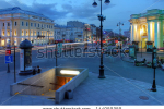 stock-photo-saint-petersburg-russia-june-midnight-along-the-nevsky-street-at-gostiny-dvor-in-saint-144059359