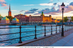 stock-photo-scenic-summer-sunset-in-the-old-town-gamla-stan-in-stockholm-sweden-118614175