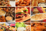 stock-photo-collage-of-pub-food-including-cheese-burgers-wings-nachos-fries-pizza-ribs-deep-fried-prawns-49644346