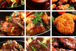 stock-photo-collection-of-different-meat-dishes-soup-schnitzel-bbq-chicken-wings-87755440