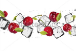 stock-photo-fresh-cherries-with-ice-cubes-isolated-on-white-background-130634756