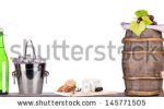 stock-photo-grapes-ice-bucket-with-bottle-of-champagne-and-glass-on-a-table-isolated-on-a-white-baclground-145771505