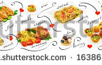 stock-photo-mix-of-different-meals-and-desserts-panorama-on-a-white-background-163861772