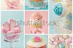 stock-photo-pastel-colored-cupcakes-and-marshmallow-collage-113261044