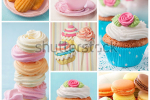 stock-photo-pastel-colored-cupcakes-and-meringue-collage-122049331