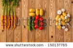 stock-photo-vegetables-on-a-wooden-background-panorama-150137765